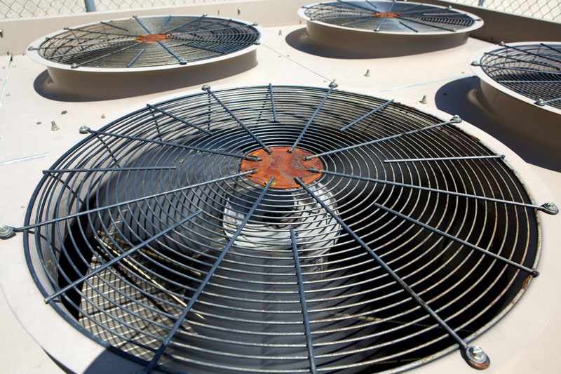 heat and air conditioning fans