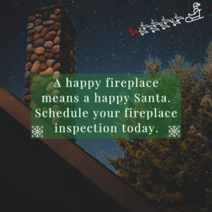 Fireplace inspection graphic