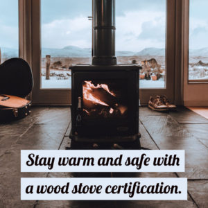 Wood stove certification graphic